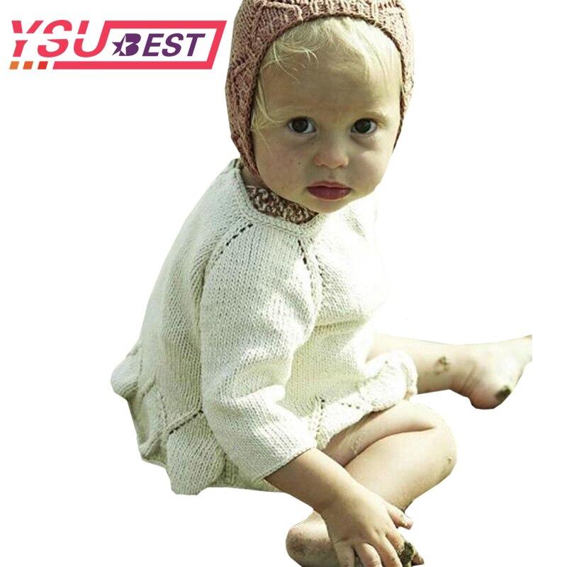 Primavera niños Niñas punto Jerséis Suéteres con Encaje Toreras ganchillo  suéter largo Niñas suéter 2018 otoño abrigo a0745521842