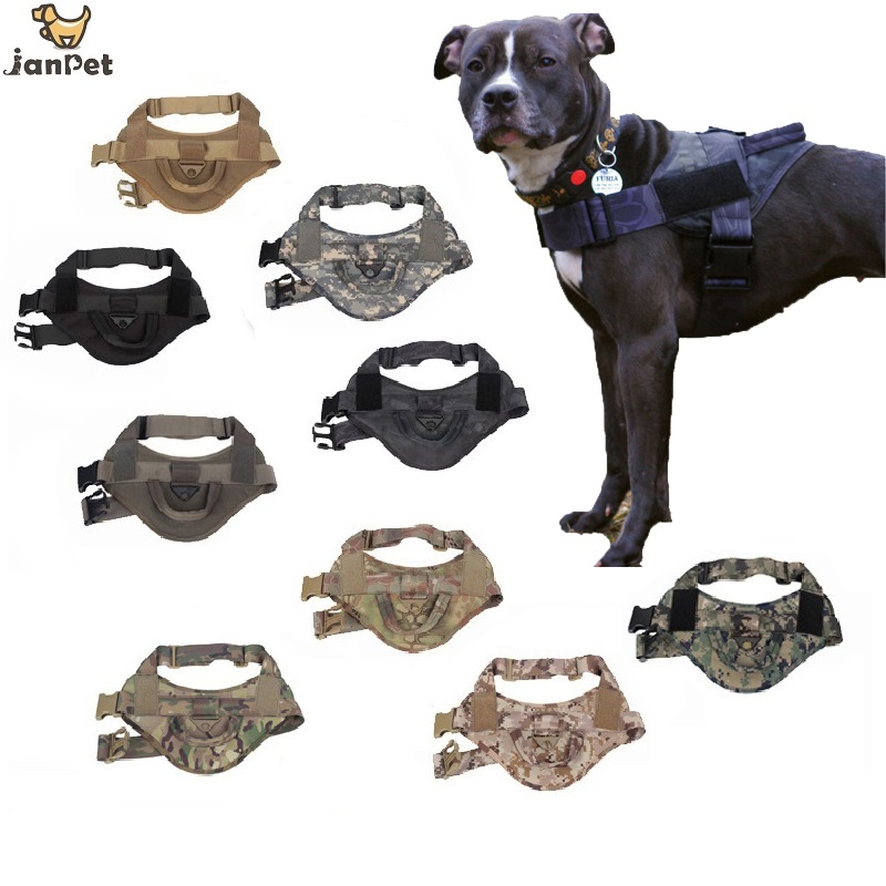 Tactical Dog Training Vest Nylon Adjustable Patrol Dog Harness