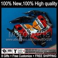 Bodys For HONDA CBR250RR MC19 86 89 Repsol CBR250 RR K 18 CBR 250RR Orange Red