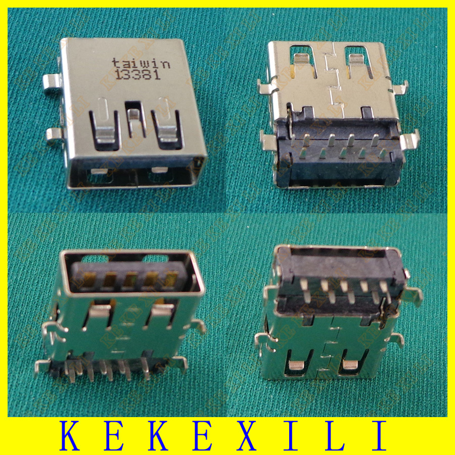 5pcs Commonly Used Replacement Right Angle USB 3.0 Jack Port, 9 Pins Type-A USB Female Connector For Asus Acer Lenovo Ultrabook