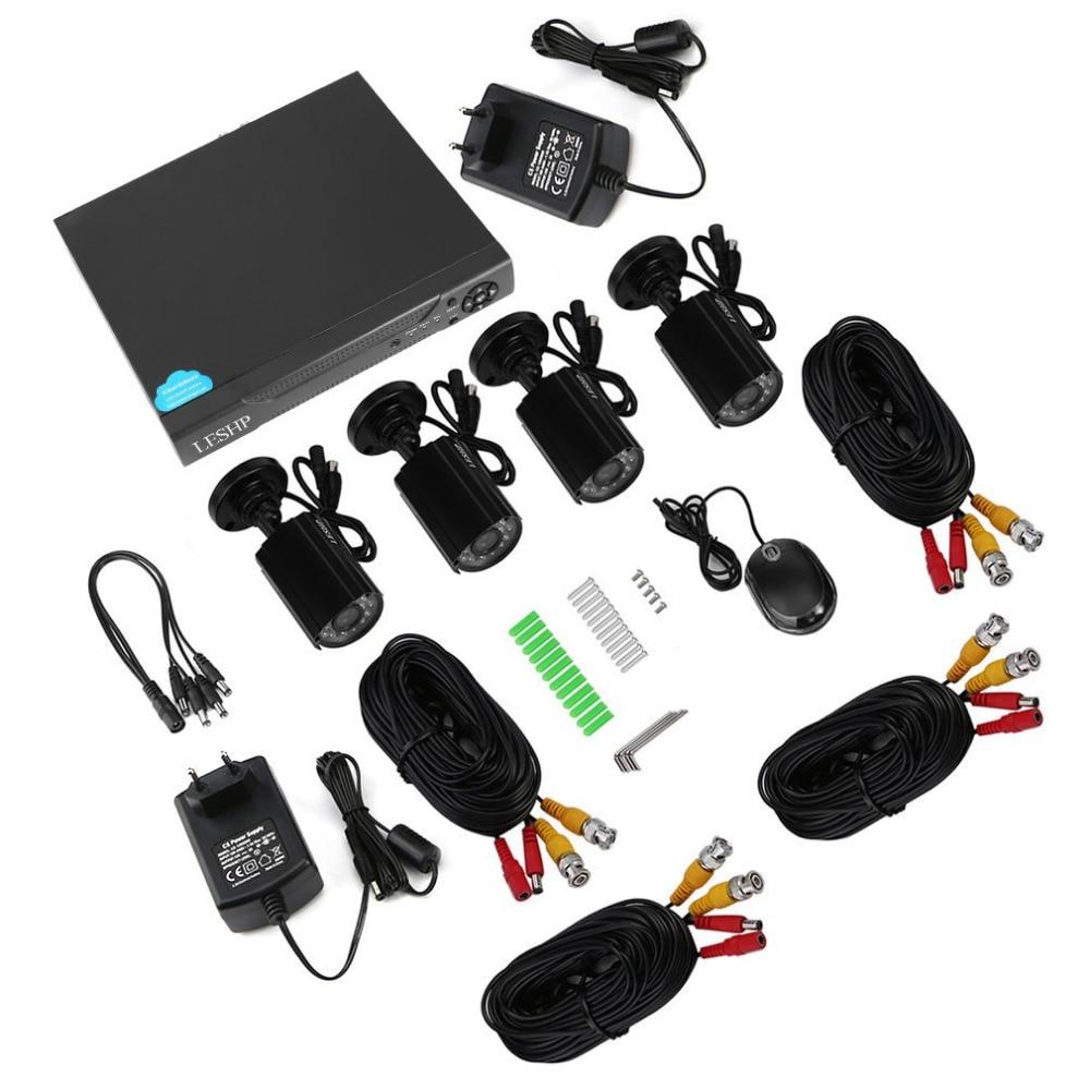 LESHP 4CH NVR Wifi Wireless HD 720P IP Camera System Night Vision Waterproof BE