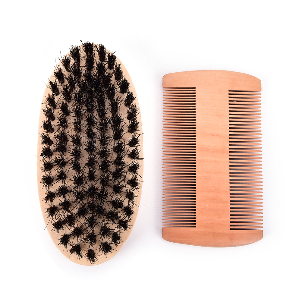 Beard Grooming1pc Wooden Folding Beard Comb Pocket Size Boar Bristle Beard Brush Boar Hairdresser Cleaner Brush Pocket Beard Com Beauty & Health