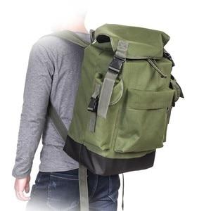 Image 2 - 70L Multifunctional Army Green Large Capacity Canvas Carp Fishing Bag Fishing Tackle Backpack