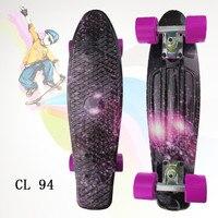 Complete Plastic Skateboard 22 Peny Board Colorful Plastic Mini Fish Board Boy Girl Mini Skate Crusier