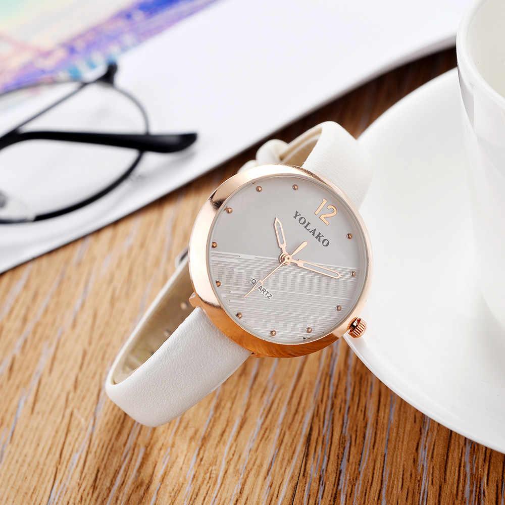 Reloj mujer 2018 Nóng Bán Phụ Nữ Đồng Hồ Thời Trang Giản Dị Thạch Anh Da Ban Nhạc Mới Dây Đeo Váy Đồng Hồ Đeo Tay Mới relogio feminino Saat
