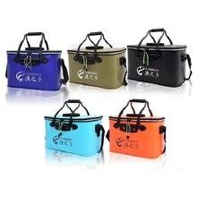 Foldable EVA Portable square Fish Bucket Tackle Fishing Box Fishing Bag fish bucket 40cm