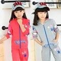 Roupas de Criança 2016 Criança da Longo-Luva + Calças/Set 2 Peças Roupa Dos Miúdos Set Esportes Twinset Zipper Camisola Com Capuz Conjuntos Girs