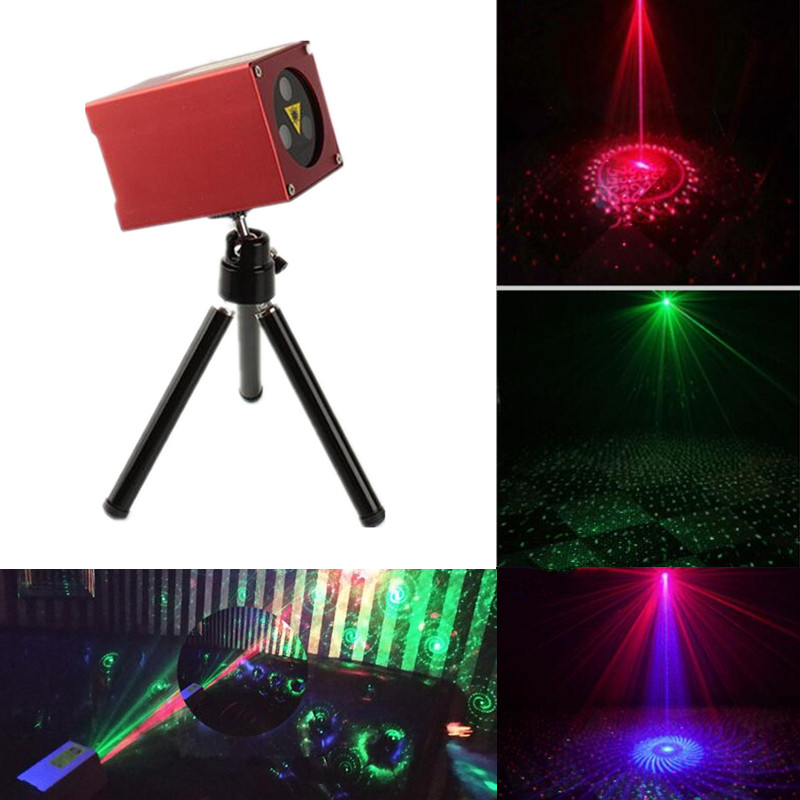 30 Patterns Mini RGB Rechargeable Laser Projector Stage Lighting Effect Party Wedding Bar DJ Disco Holiday Christmas Laser DMX|Stage Lighting Effect| |  - title=
