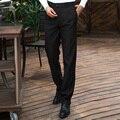 Male Long Pants Straight-legged Trousers Korea Style Men's Leisure Black Overalls Leggings Trousers For Men