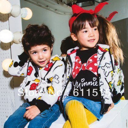 New and hot Floral Printing kids Hoodie Jacket with mickey and minnie  cartoon cute coat 80-120 free shipping 5 peices/lot