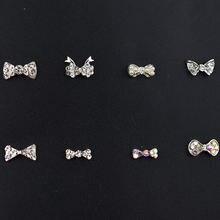 10 шт/упак 3d украшения для дизайна ногтей Бабочка бриллианты