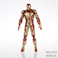 Marvel Comics Iron Man 3 IRON MAN Iron Man movable MK42 Joints can move PVC Q edition hand to do Holiday gifts Free shipping