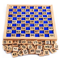 Дети Монтессори Учебные Пособия Математика 1-100 Подсчет Деревянный Цифровой Пластины Совета Игрушки Монтессори Образовательные Игрушки
