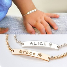 Baby Bracelet Customized Baby Braceletes Stainless Steel Bracelet Engraved Name Date Adjustable Bangles for Child Birthday engraved bracelet for women child name bracelet custom name bangles gold silver stainless steel mujer name bangles jewelry gift