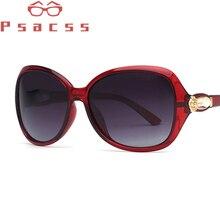 Psacss NEW Polarized Sunglasses Women Vintage Elegant Flower Brand Designer Sun Glasses Female Mirror lunette soleil femme UV400