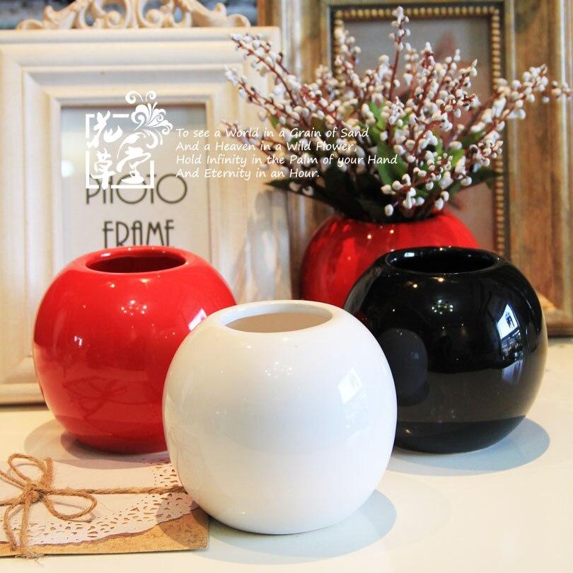 Ceramic small vase ceramic vase modern brief multicolour for Decoration vases modern