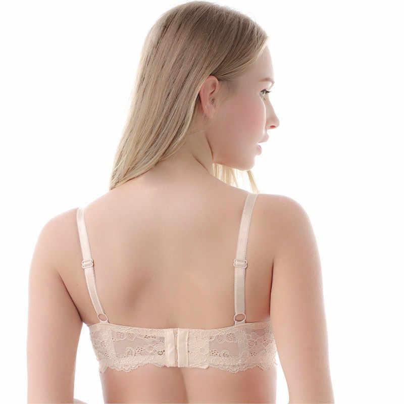 d657096ad2fd1 ... MiaoErSiDai Plus Size Lace Bra Khaki Soutien Gorge Basic Shirt Bras For Women  30 32 34 ...