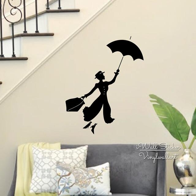Design Girl Balloon Wall Sticker Girl Wall Decal DIY Modern Wall
