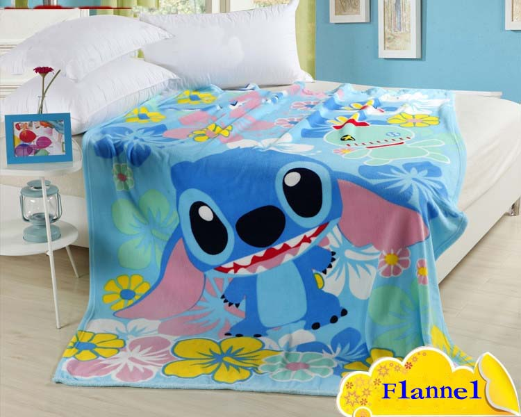 Gratis frakt 100% Coral Fleece Blanket Cartoon Blanket på sengen, tepper på sofaen Baby teppe