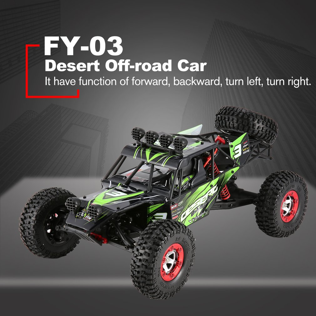 FY-03 EAGLE-3 RC Car Toys For Kids1:12 4WD 2.4G Full Scale Desert Off-road RC Remote Controller Car Model with left/right modeFY-03 EAGLE-3 RC Car Toys For Kids1:12 4WD 2.4G Full Scale Desert Off-road RC Remote Controller Car Model with left/right mode
