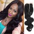 Top Peruvian Body Wave Closure Free/3 Part Virgin Human Hair Closure Piece Peruvian Lace Closures Bleached Knots Clousure Hair