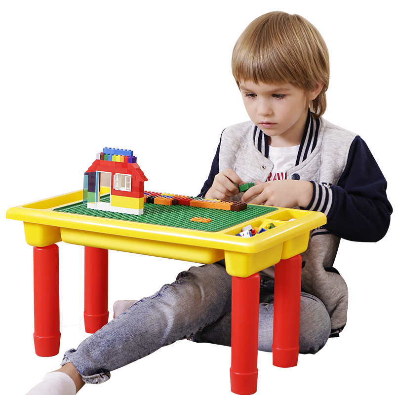 Blocks Multi Function Building Blocks Table For Small Bricks Foldable Desk Base Plate Compatible With Legoed Gift For Children Street Price Toys & Hobbies