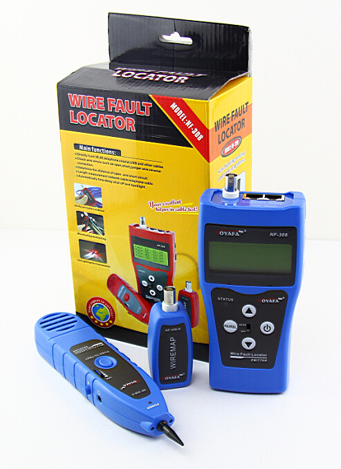 Free Shipping! NOYAFA NF-308B Network Cable Tester Hunting Wire Sorting Coax Cable Length Tester RJ45 RJ11 BNC цена