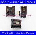 SOP16 в DIP8 Адаптер Wide 300mil SOIC16 в DIP8 разъем IC программист адаптер для EZP2010 RT809F EZP2013 CH341A Программист