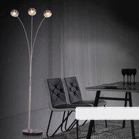 Moderne Stil Hochwertige Edelstahl Stehleuchte Licht mit 3 E14 Lichter Standlampe Lambader Für wohnzimmer & schlafzimmer