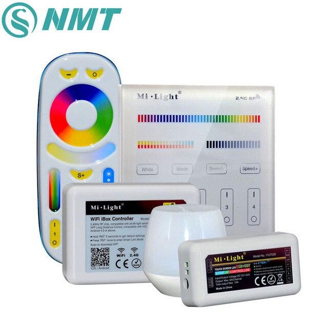 DC12V 24V RGB CCT LED Remote Control Mini Mi light 2.4G Wireless Wifi Touch Panel Controller For LED Strip Lighting