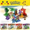 4 unids/set pikachu pokemon ir generaciones sy723 kits anime japonés juego bloques de construcción ladrillos compatibles con lego