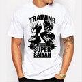 Formación Para Ir Super Saiyan Camiseta Anime Diseño camiseta de Los Hombres Dragon Ball Z Vegeta Goku Impreso Tops Camisetas Hipster Blanco