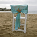 10 Pieces Beach Wedding Decoration Sky Blue Wedding Chair Sash Chiffon Party Banquet Party Decorations Chair Sash Covers