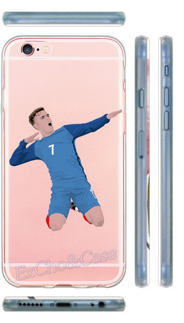 New Soft Silicon or Hard Plastic Phone Case For iphone 5 5s SE 6 6s plus Famous Football team Antoine Griezmann Messi Star Case