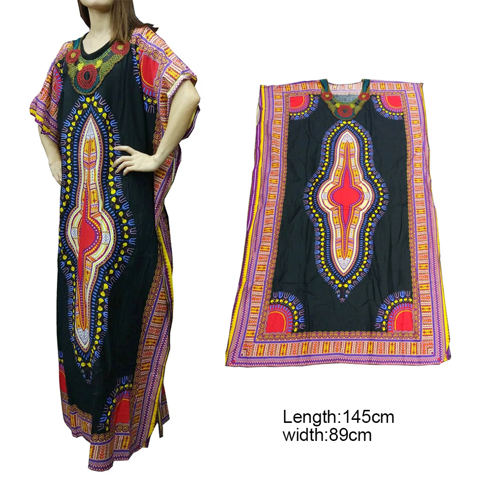 Newest MEXICAN DASHIKI COAT CAFTAN LONG AFRICAN KAFTAN LADY DRESS ...