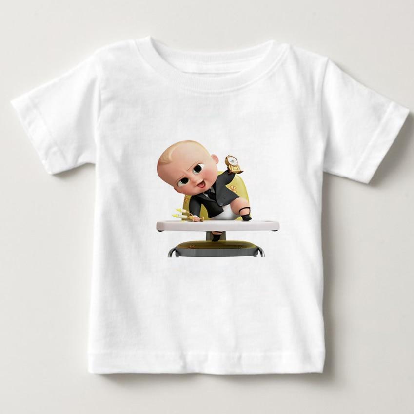 The Boss Baby Cartoon T Shirt 2019 new fashion children T Shirts kids Summer Cotton t shirt boy girl Short Sleeve tees 3T 8T NN in T Shirts from Mother Kids