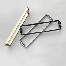 1PCS Solid 304 Stainless Steel Bathroom Handles Polish Chrome/Golden/Dumb Black Shower Room Glass Door Handle C-C:440mm JF1805
