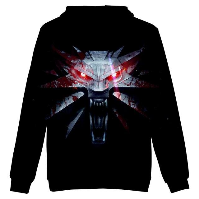 2018 hit Hot Game 3D The Witcher 3 cotton Hoodies sweatshirts Men Women Couple Sweatshirt Harajuku long sleeve Cool Pullovers 5
