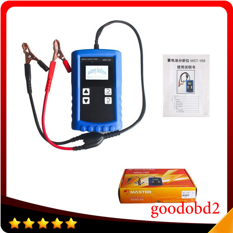 2017 Poderoso MST-168 Portátil 12 V Digital Bateria Analyzer MST 168 Auto Carro Testador de Bateria Testador de Carga
