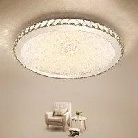 Modern Flush Mount Home Silver LED Crystal Ceiling Chandelier Lights Fixture for Living Room Bedroom Kitchen Lamps