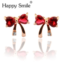 Wholesale Handmade Koreyoshi Most Beautiful Jewelry Bowknot Stud Earings Baby Earing Female Piercing Jewelry For Girl
