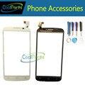 Preto/cor branca da tela de toque do painel de vidro digitador para alcatel one touch pop c7 ot7040 com ferramentas