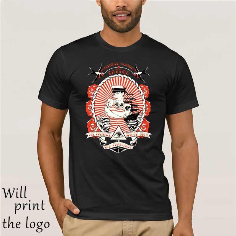 e55e7446b Mens T-Shirt Velocitee Sailor Tattoo Sexy Pin Up Retro Rockabilly Jerry 3D  Men Hot
