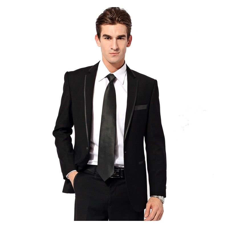 Latest Coat Pant Designs Black Trim Formal Bridegroom Wedding Suits For Men Fashion Custom 2 Pieces Terno Jacket+Pants 266