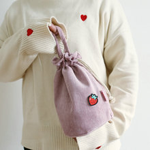 New beam mouth hand bag Women's corduroy mobile phone