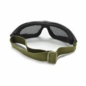 Image 4 - חיצוני שחור טקטי CS איירסופט פיינטבול מתכת Mesh Goggle עיניים מגן משקפיים חיצוני ספורט Eyewear סיטונאי