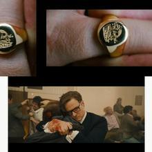 Kingsman: Секретная служба-латунное кольцо-печатка фильма-ручная работа ограниченный Серебряный Рождественский подарок