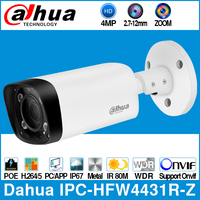 Dahua IPC HFW4431R Z 4MP POE IP Camera 80m MAX IR Night 2.7~12mm VF lens Motorized Zoom Auto Focus Bullet Security CCTV Camera