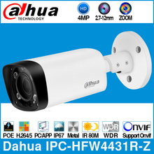 Dahua IPC-HFW4431R-Z 4 МП POE ip-камера 80 м MAX IR Night 2,7 ~ 12 мм VF объектив с моторизованным зумом Автофокус пуля камера видеонаблюдения