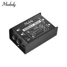 Muslady одноканальный DI Box прямой впрыск аудио коробка преобразователь сигнала с XLR TRS интерфейсы для электрогитары бас Live